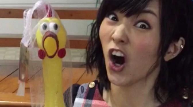 Yamamoto Sayaka and her chicken