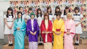 Nogizaka46 stars in colorful stage play Joshiraku