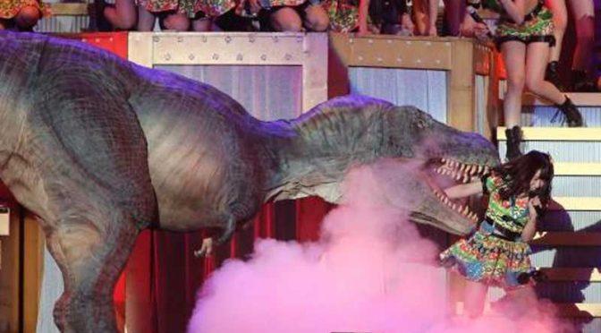 HKT48,Tomiyoshi Asuka eaten dinosaur,HKT冨吉明日香,恐竜