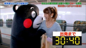 Kumamon's boob touching antics with Kashiwagi Yuki