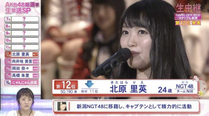 Kitahara Rie 2016 8th Senbatsu speech (English subtitles)