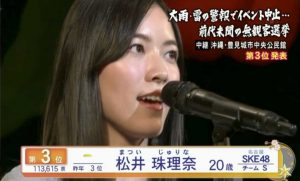 Matsui Jurina's 2017 2017 9th Senbastu Speech (English Subtitles)