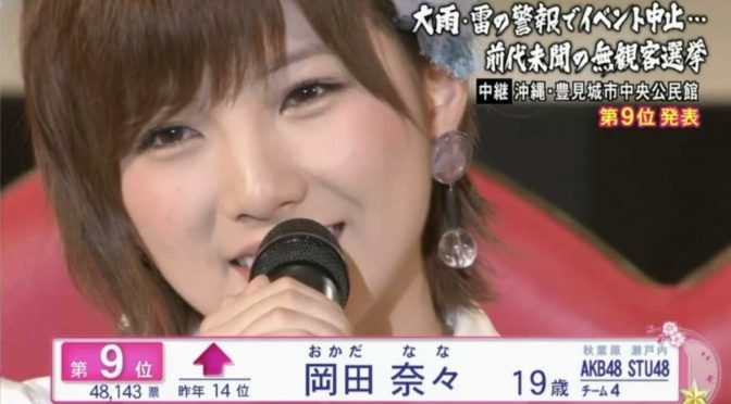 Okada Nana's 2017 9th Senbastu Speech (English Subtitles)